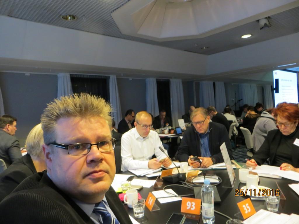 Jari SAK:n uudessa edustajiston kokouksessa Helsingissä marraskuussa 2016