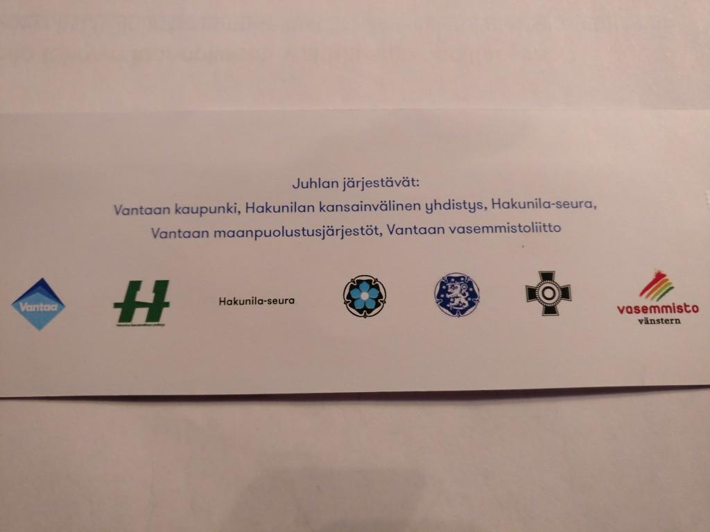 Vantaan Suomi 100-vuoden itsenäisyyspäivän juhlan järjestäjät