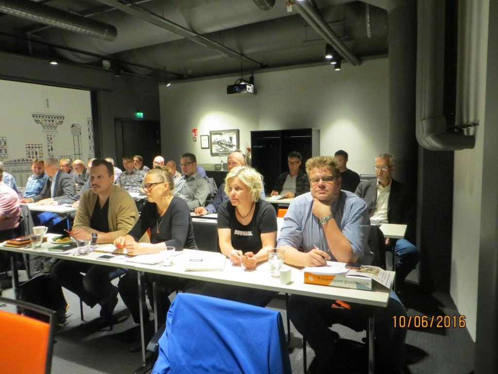 Rakennusliiton hallituksen kokouksessa kesäkuussa 2016, Hotelli Torni Tampere